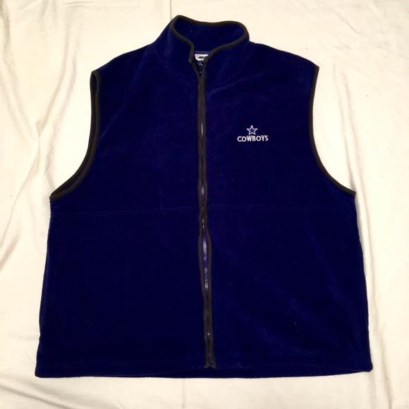 low priced 698d9 59e7d Men's Dallas Cowboys Navy Blue Fleece Vest